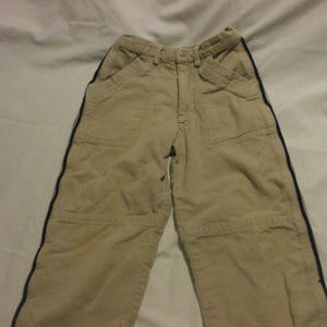Brown Cordouroy Pants With Blue Detailing 100% Cot